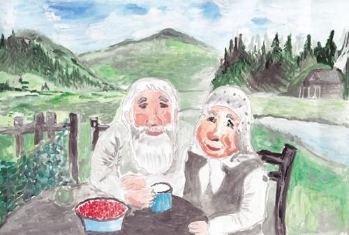мой дедушка и бабушка картинки