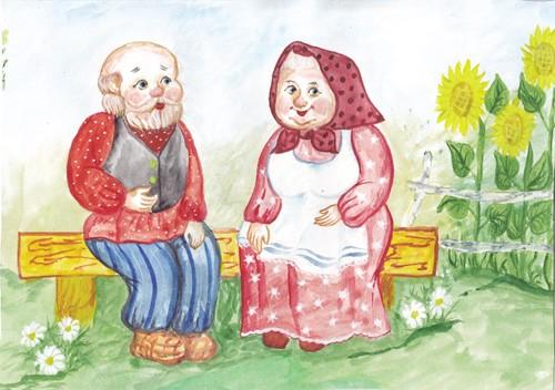 Рисунки на тему бабушка дедушка